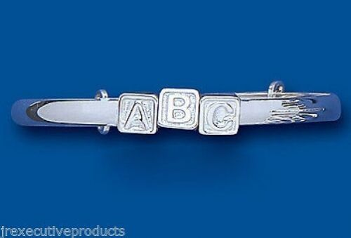 ABC Bangle Solid Silver 3 - 7 Years Adjustable